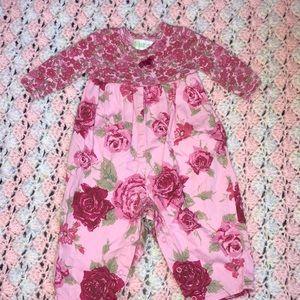 Other - Pink flora bodysuit
